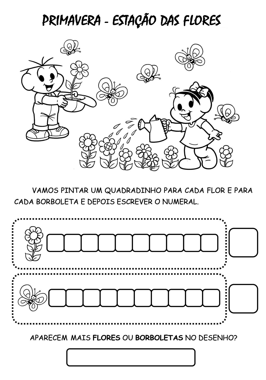 30 Atividades Primavera Turma Da MÔnica E Desenhos Colorir