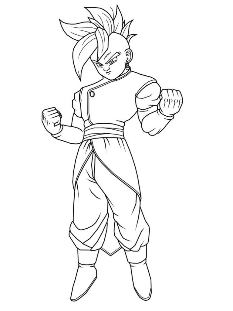 7 Pics Of Dragon Ball Z Kai Coloring Pages Printable