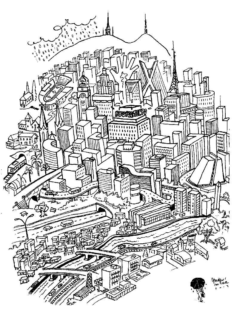 Desenhos De Cidades Para Colorir