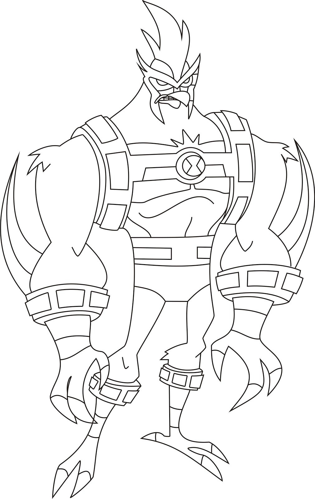 Colouring in pages ben 10 -  Ben 10 Para Colorir Ben 10 Colouring Page