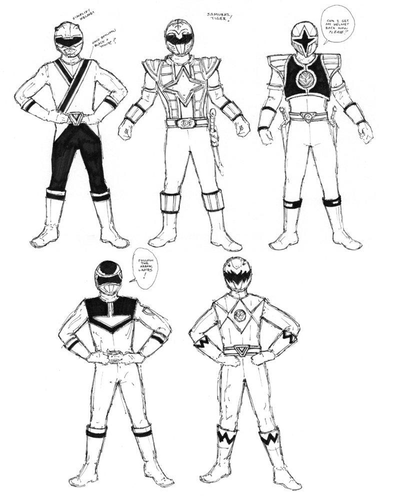 Desenho Para Colorir Power Rangers