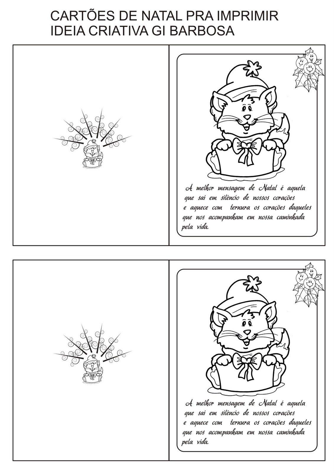 Cartões De Natal Criativos Para Colorir, As Opções Mais Lindas Em