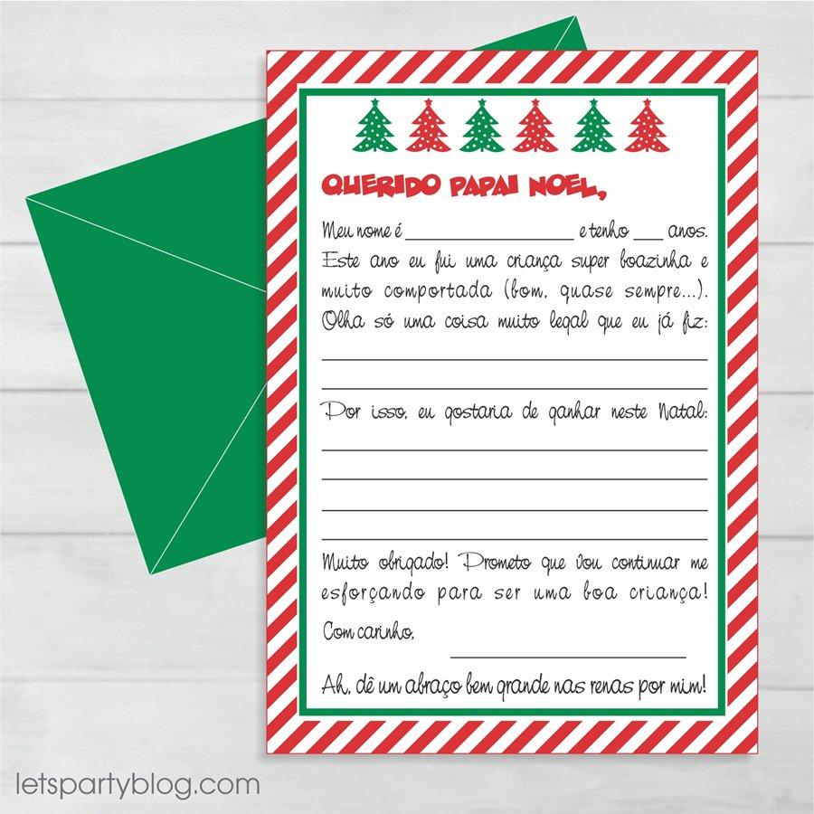 Cartinha Para O Papai Noel (e Cartão Resposta!)