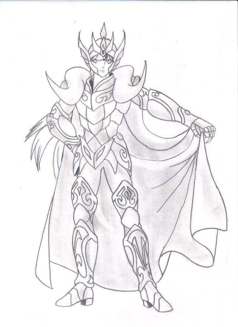 Cavaleiros Do Zodiaco Desenhos Para Desenhar Sketch Coloring Page
