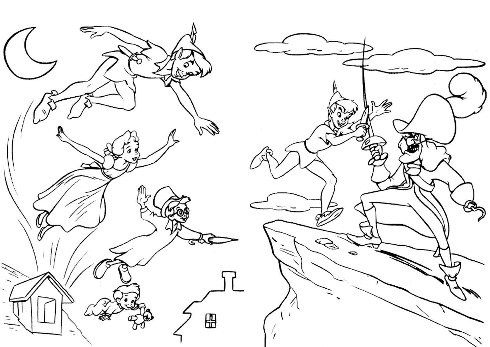 Center Livro De Colorir Peter Pan Center Free Coloring Pages