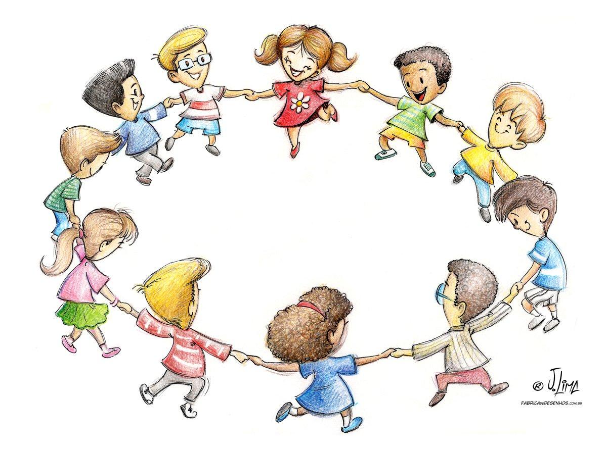 Ciranda Roda Criancas Brincando – A Fábrica De Desenhos