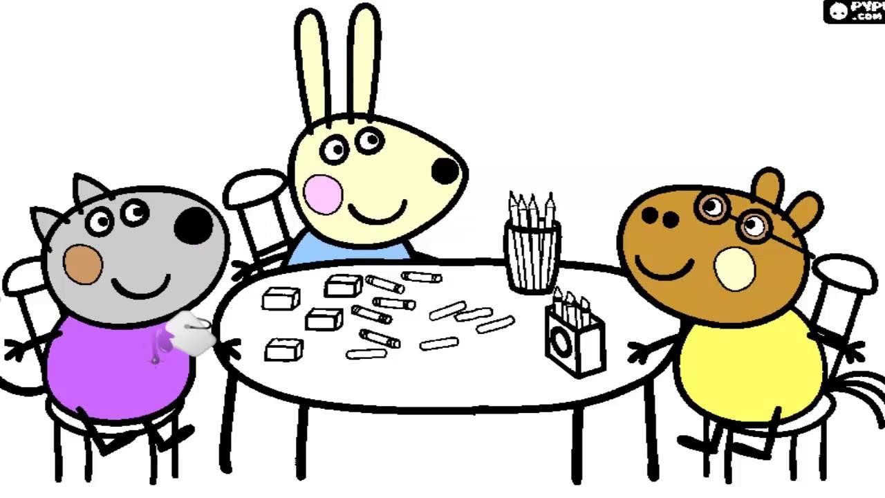 Colorindo Os Amigos Da Peppa