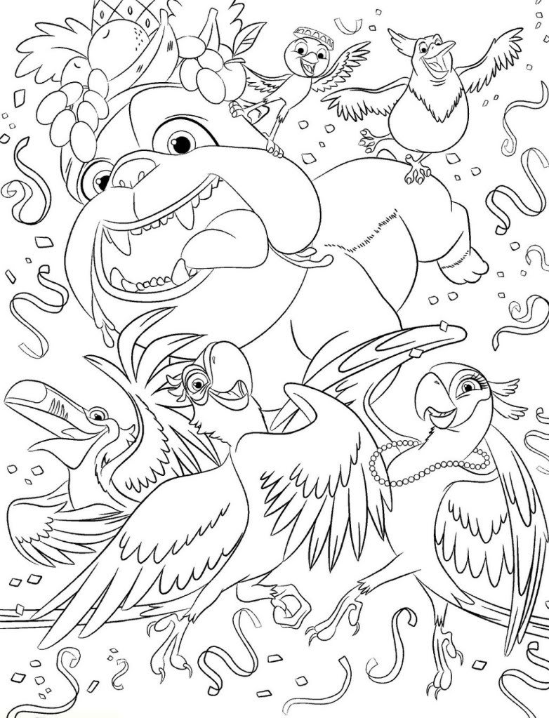 Coloring Pages Of Rio – Free Printables