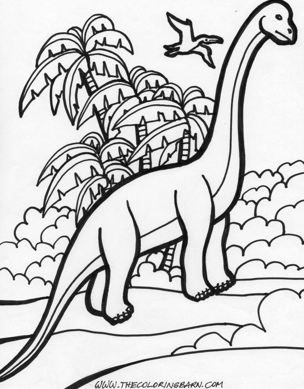 Colorir E Pintar  Dinossauros Para Colorir