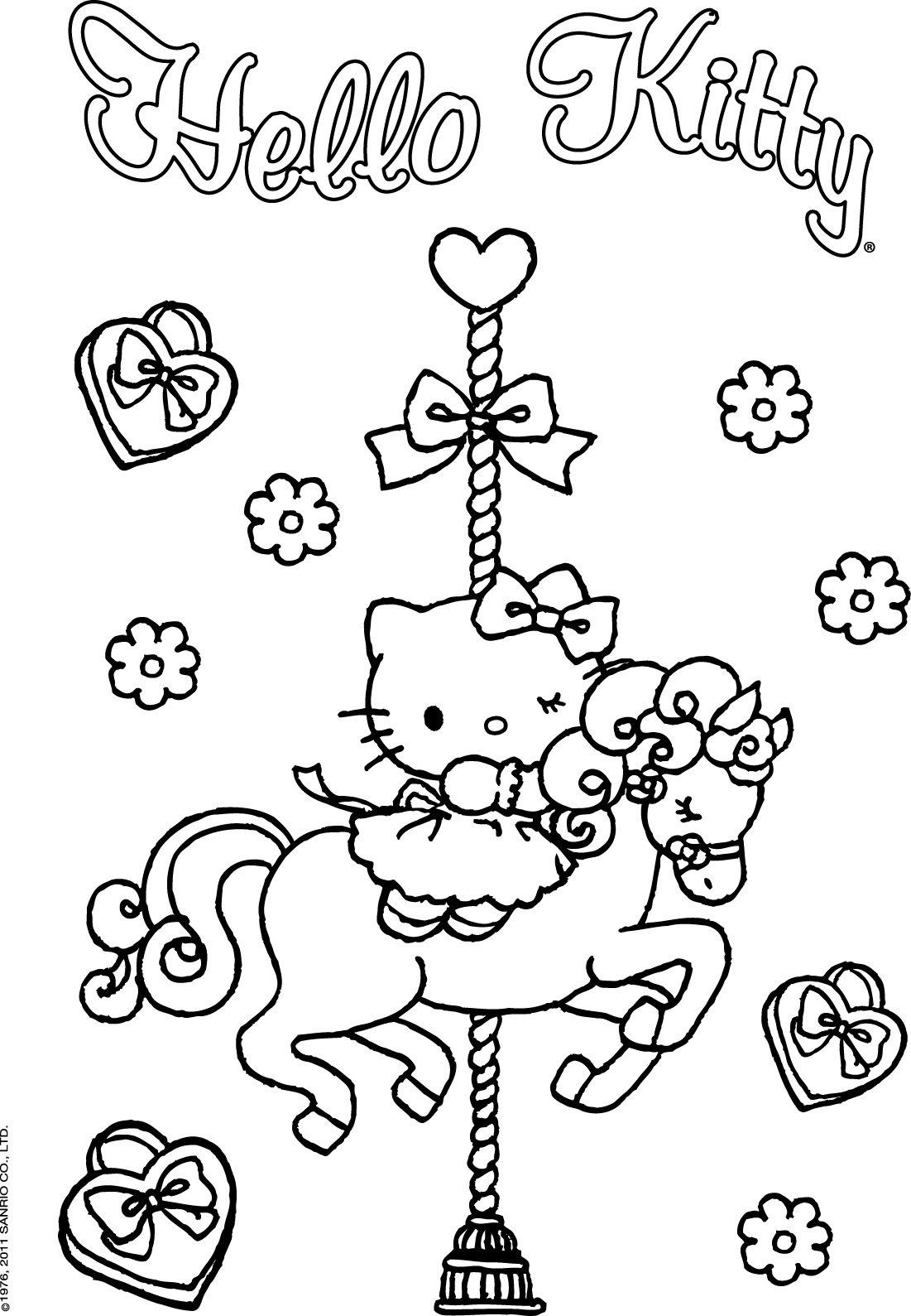 Colorir Hello Kitty