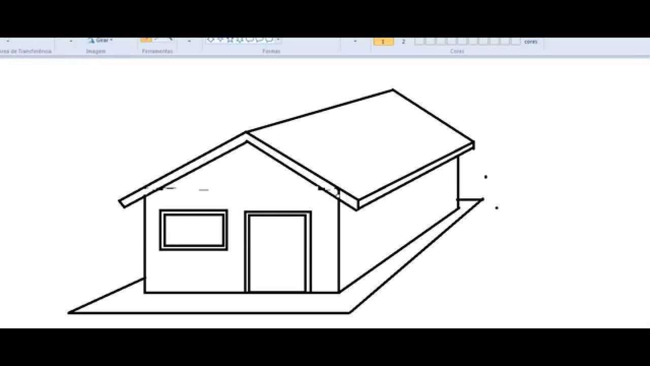 Como Desenhar Casa No Paint