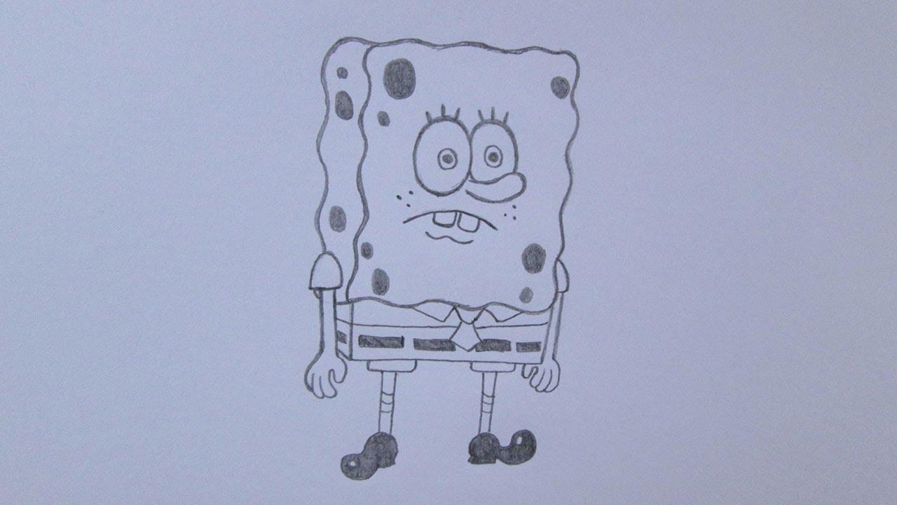Como Desenhar O Bob Esponja De Bob Esponja  Um Herói Foda D'Água