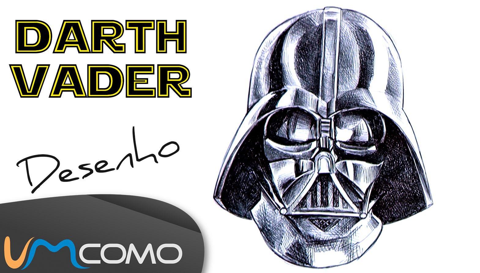 Desenhar A Máscara Do Darth Vader ( Star Wars )