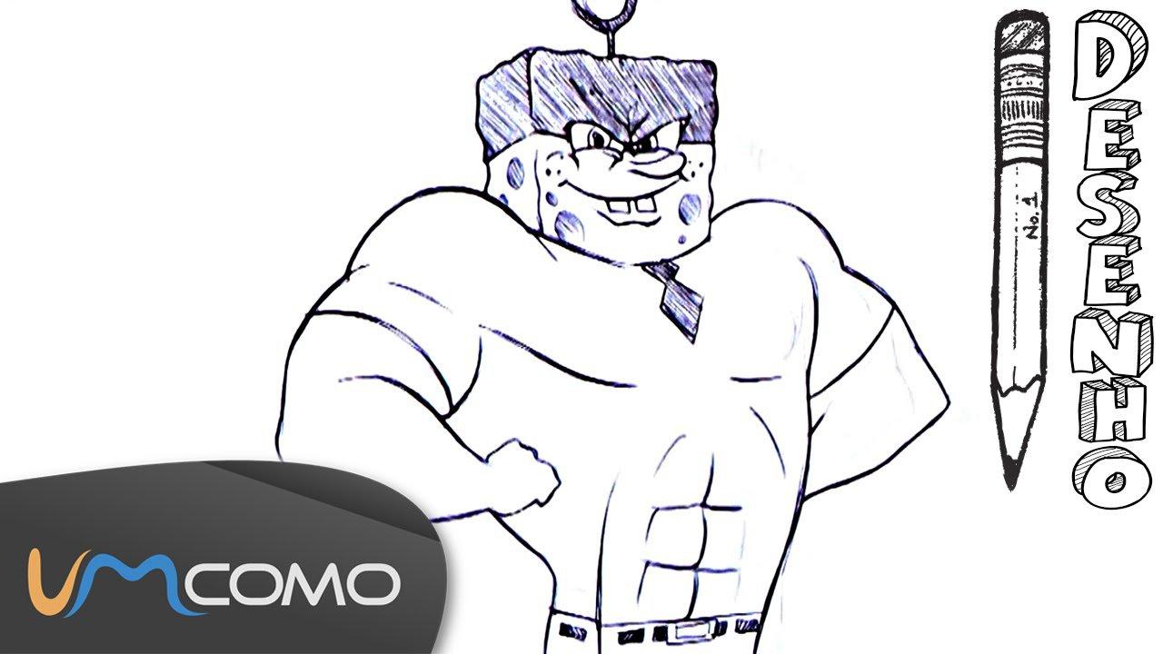 Desenhar O Super Bob Esponja