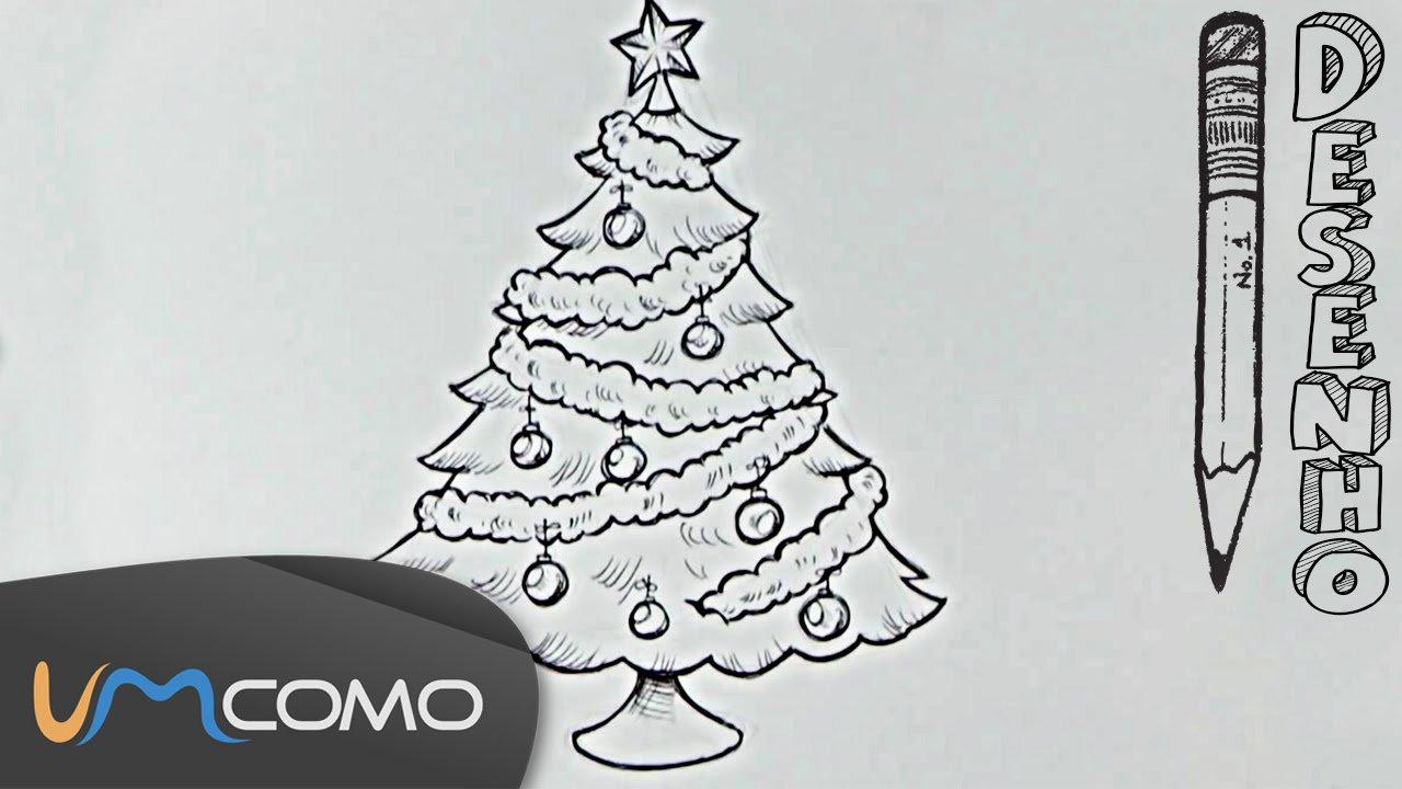 Desenhar Uma Árvore De Natal Para Colorir