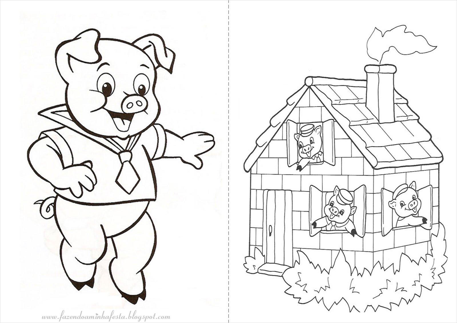 Desenho Animado Tres Porquinhos Desenhos Para Colorir Imagixs