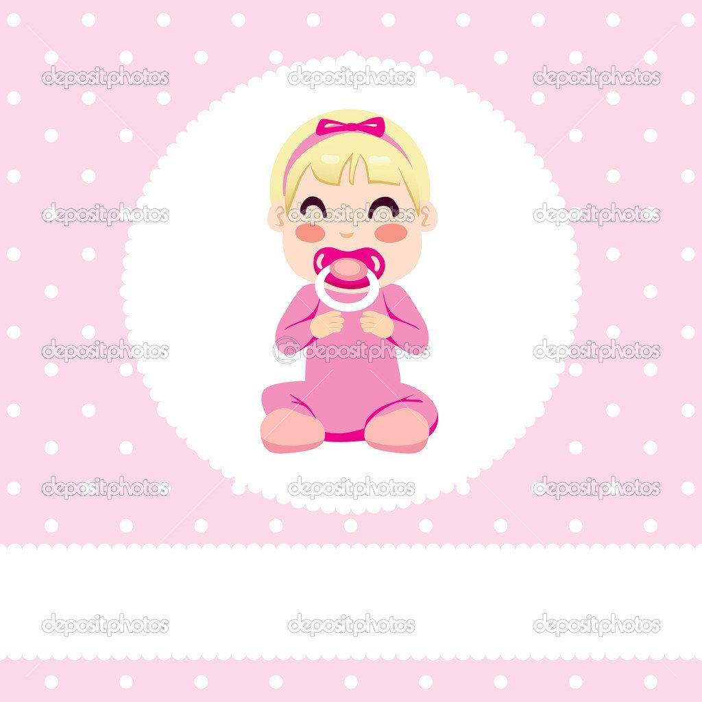 Desenho De Bebê Menina — Vetor De Stock © Kakigori  40591789