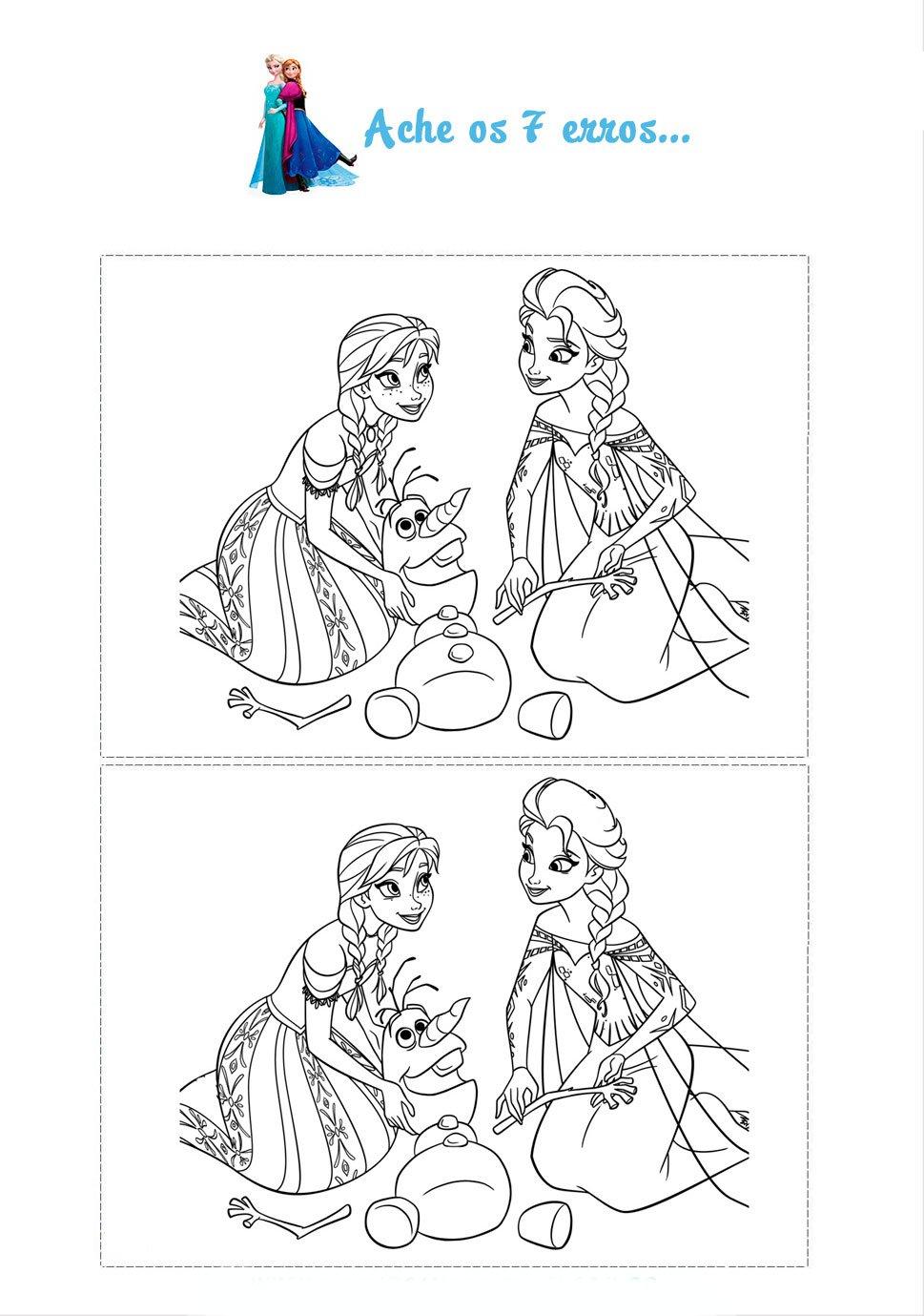 Desenho De Jogo Dos 7 Erros Da Frozen Para Colorir Free Coloring