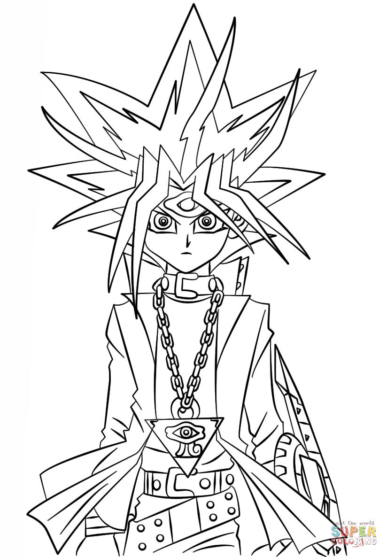 Desenho De Yugi Muto De Yu