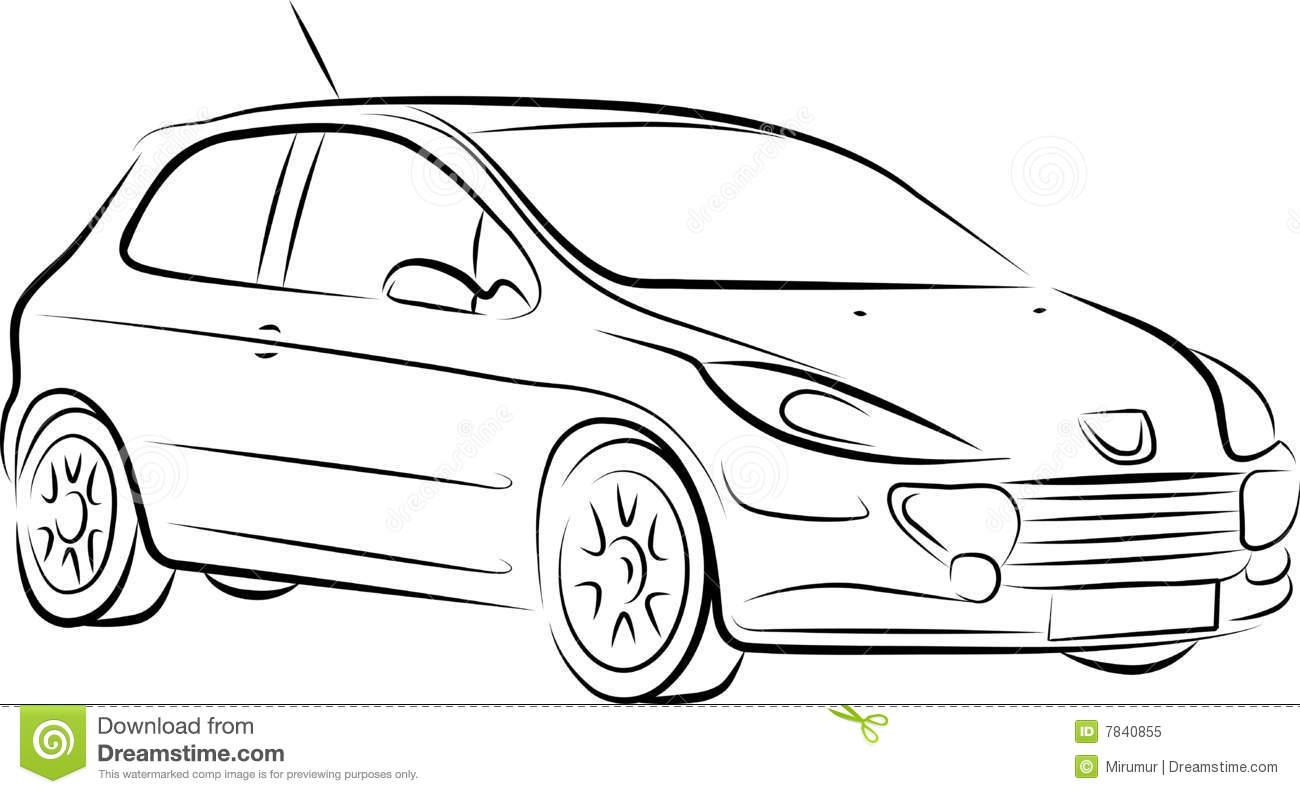 Desenho Do Carro, Vetor Foto De Stock Royalty Free