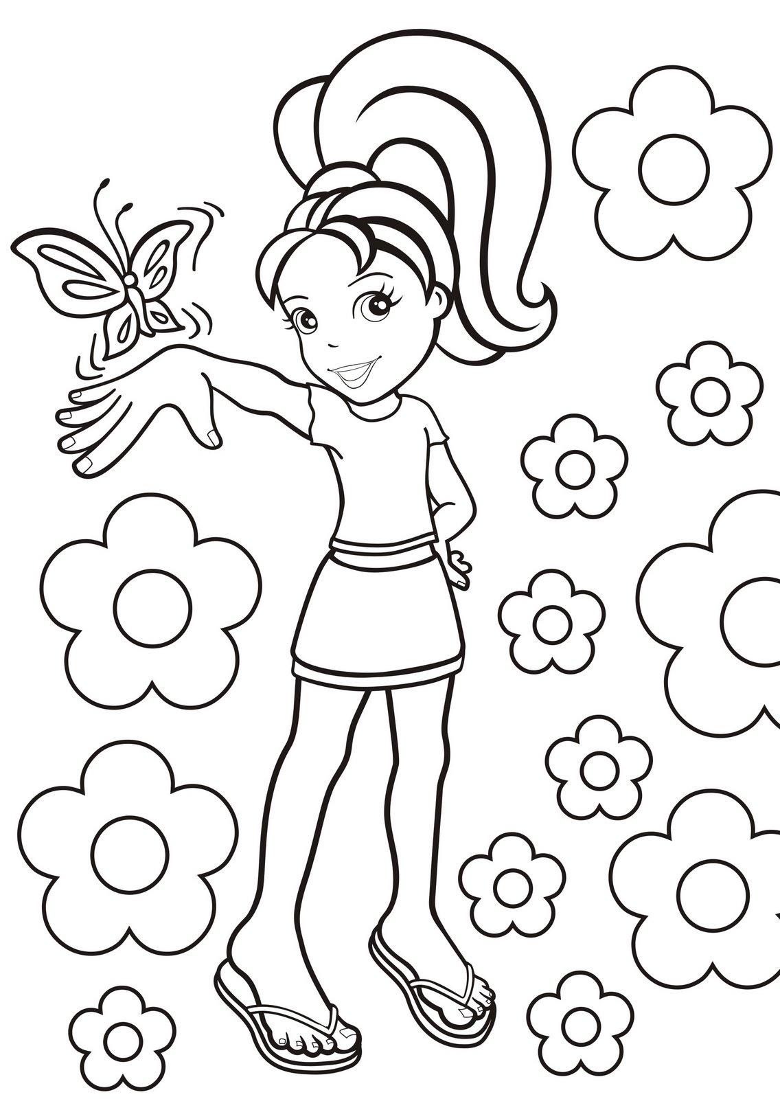 Desenho Para Imprimir E Pintar Da Polly