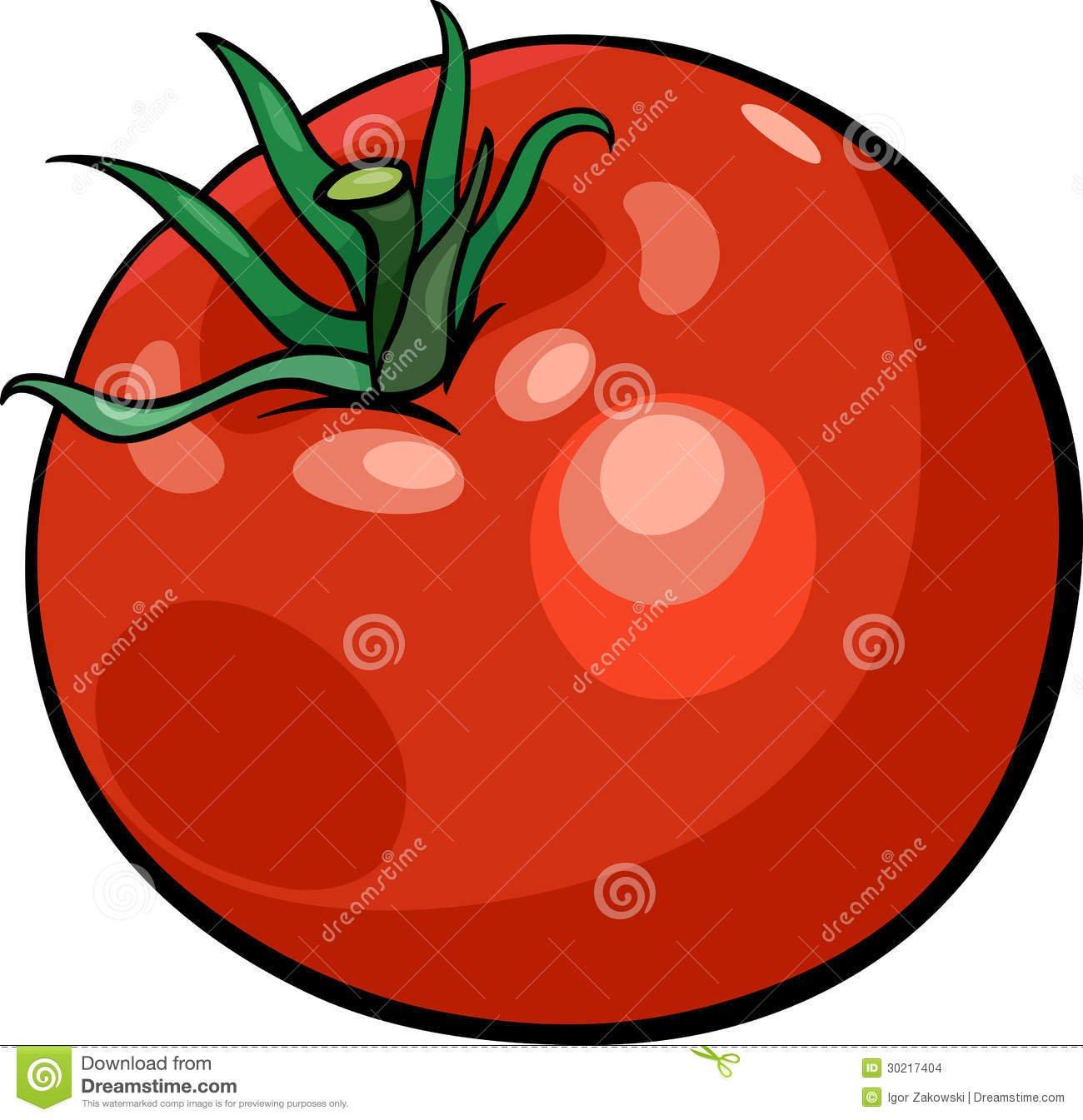 Desenhos Animados Do Vegetal Do Tomate Ilustração Stock
