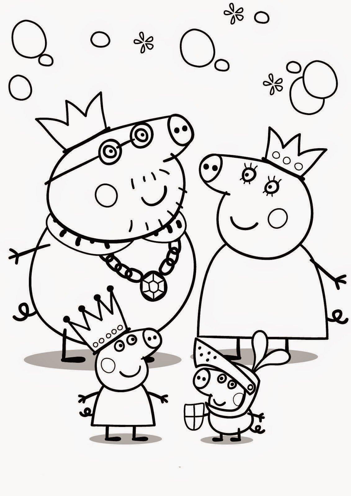 Desenhos Da Peppa Pig Para Colorir, Imprimir, Pintar