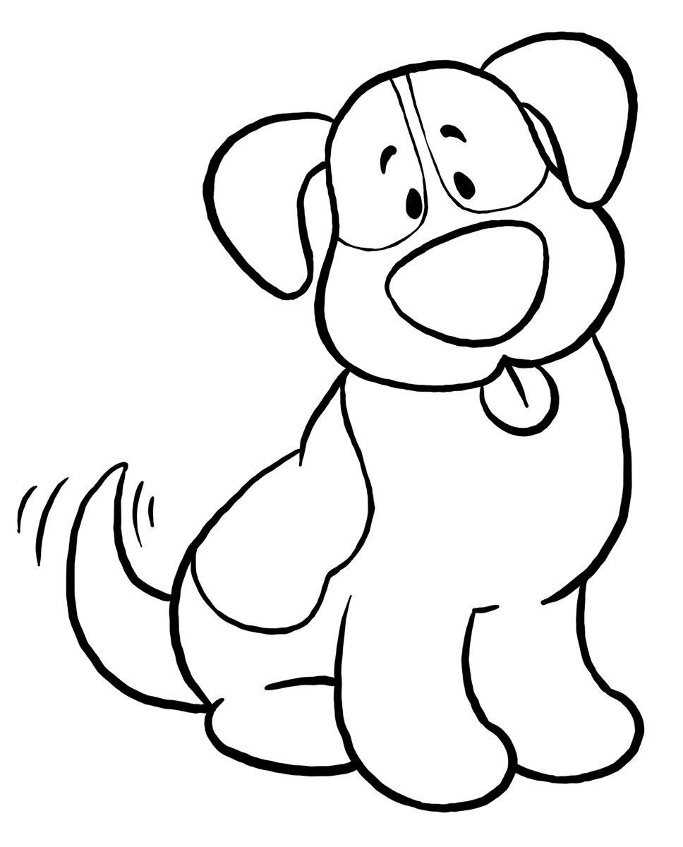 Desenhos De Cachorros Para Colorir E Imprimir
