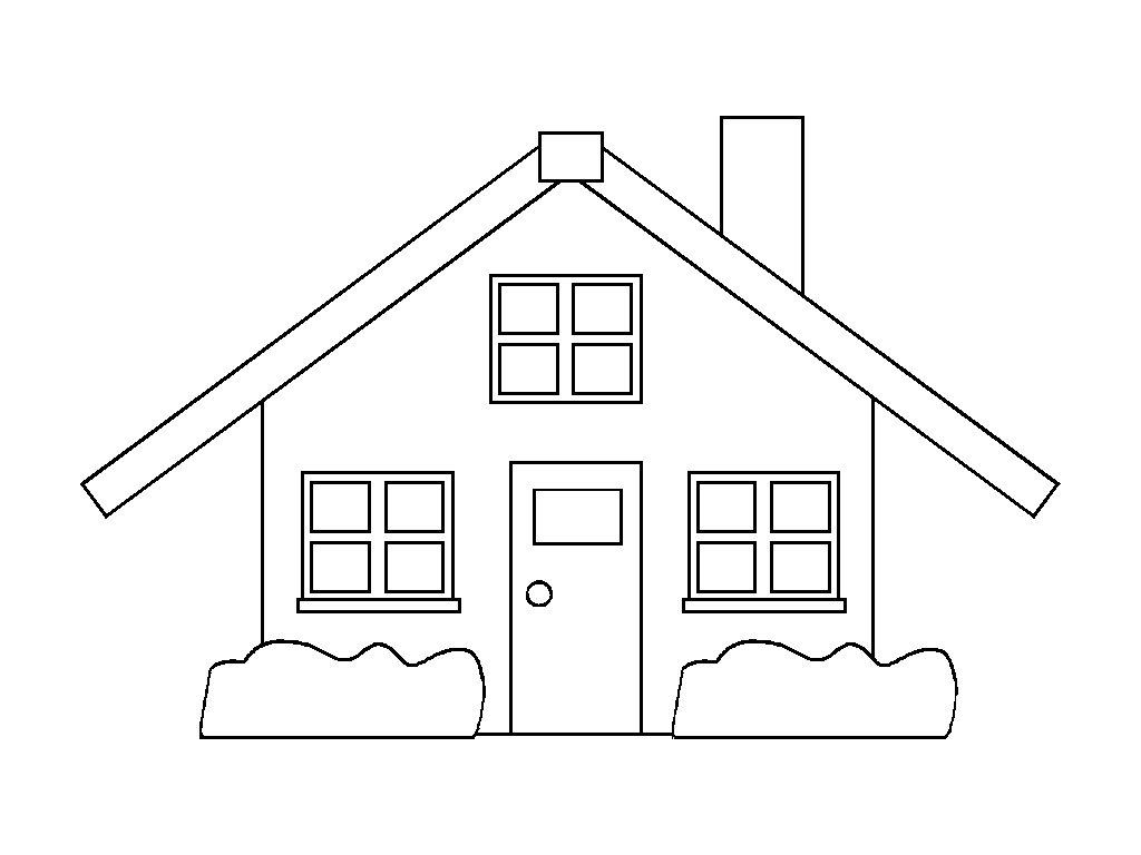 Desenhos De Casas Para Imprimir E Colorir