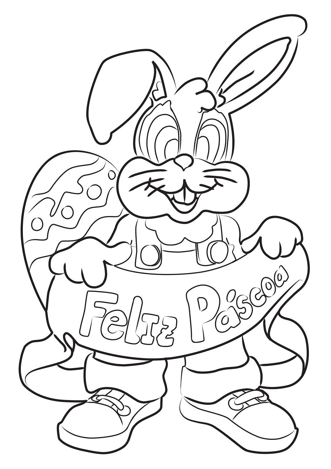 Desenhos De Coelho Da PÁscoa Para Imprimir E Colorir