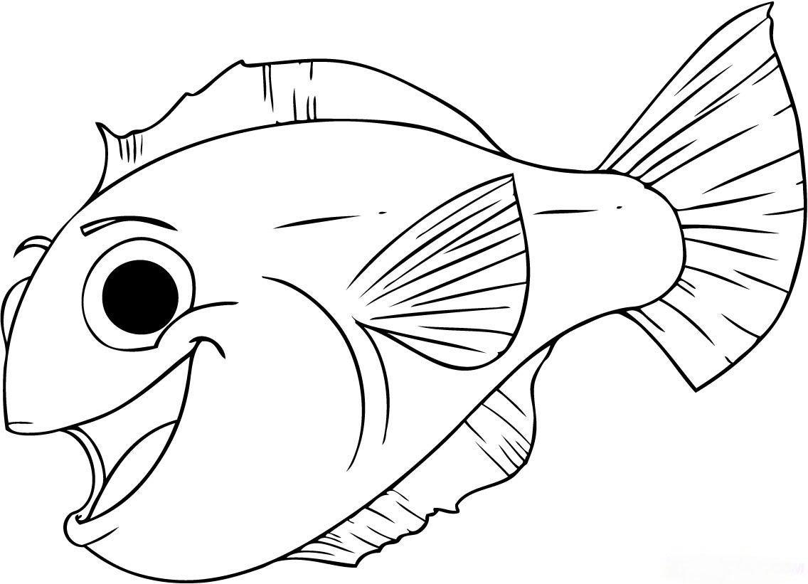 Desenhos De Peixes Para Colorir ~ Imagens Para Colorir