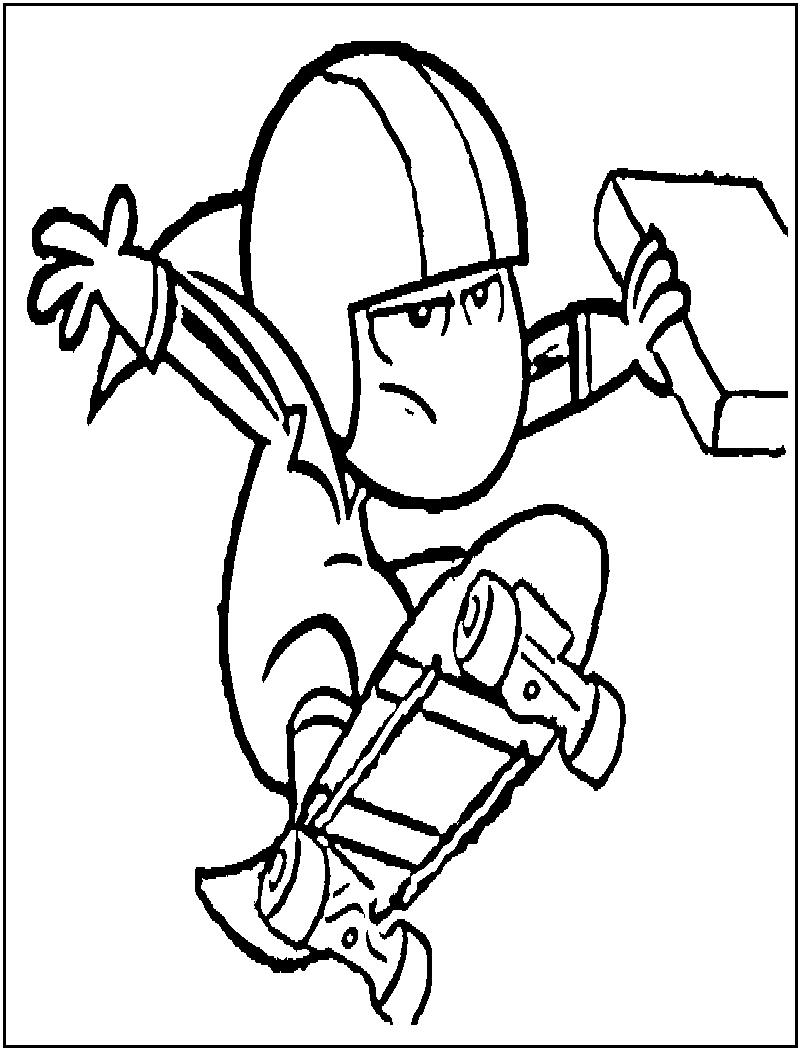 Desenhos Do Kick Buttowski Para Imprimir E Colorir, Desenhar