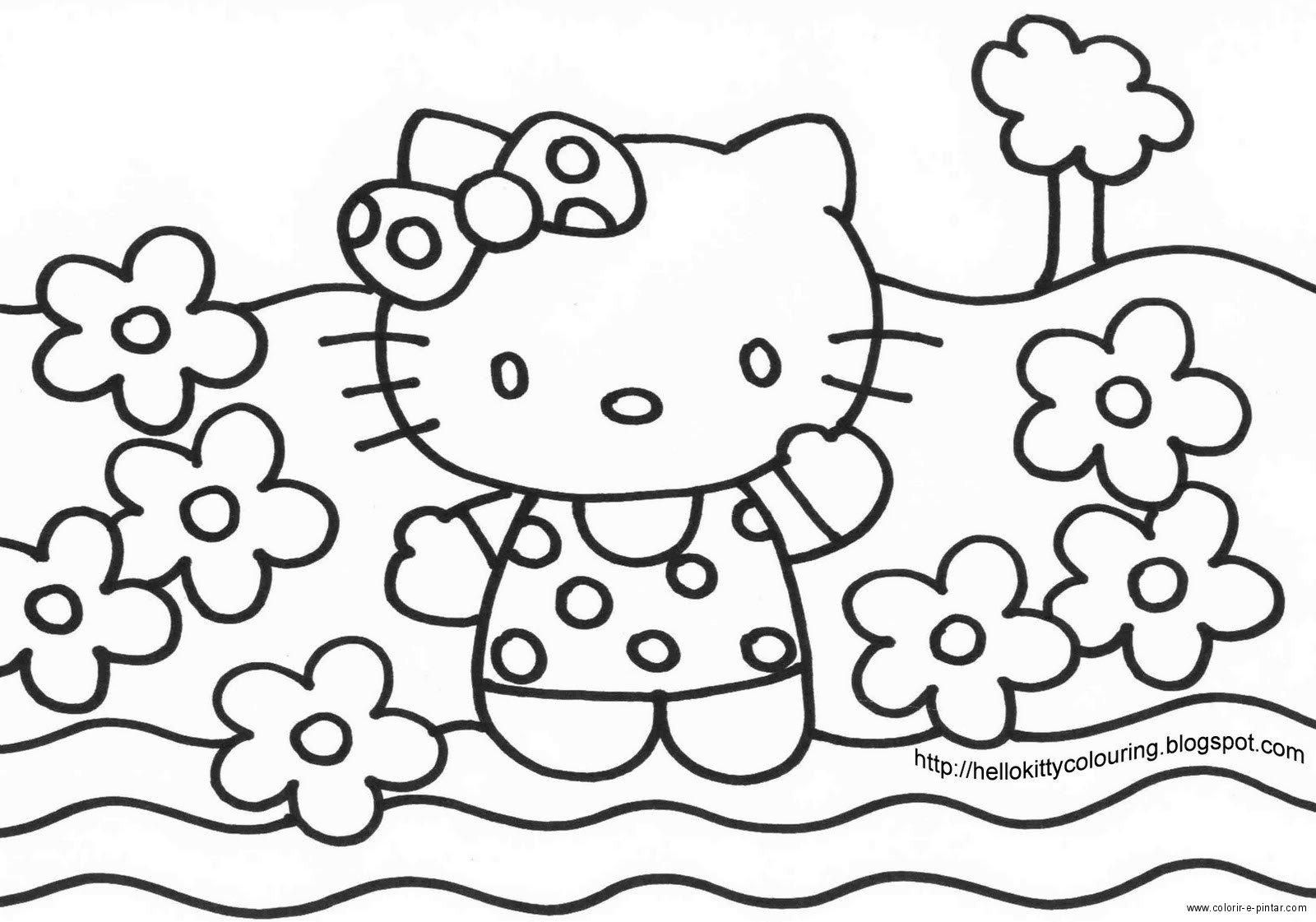 Desenhos Para Pintar: Desenho Para Colorir Da Hello Kitty
