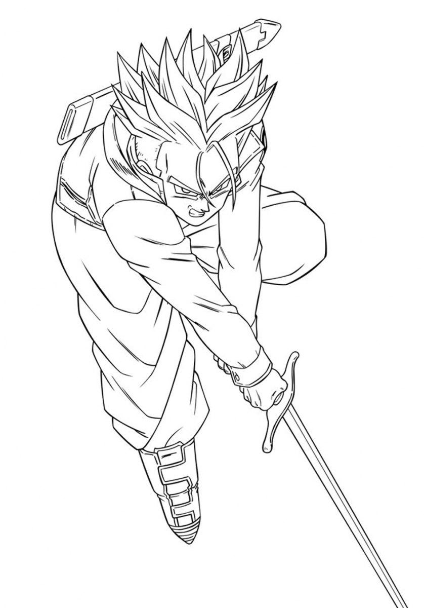 Desenho dragon ball z para colorir - Image dragon ball z gratuit ...