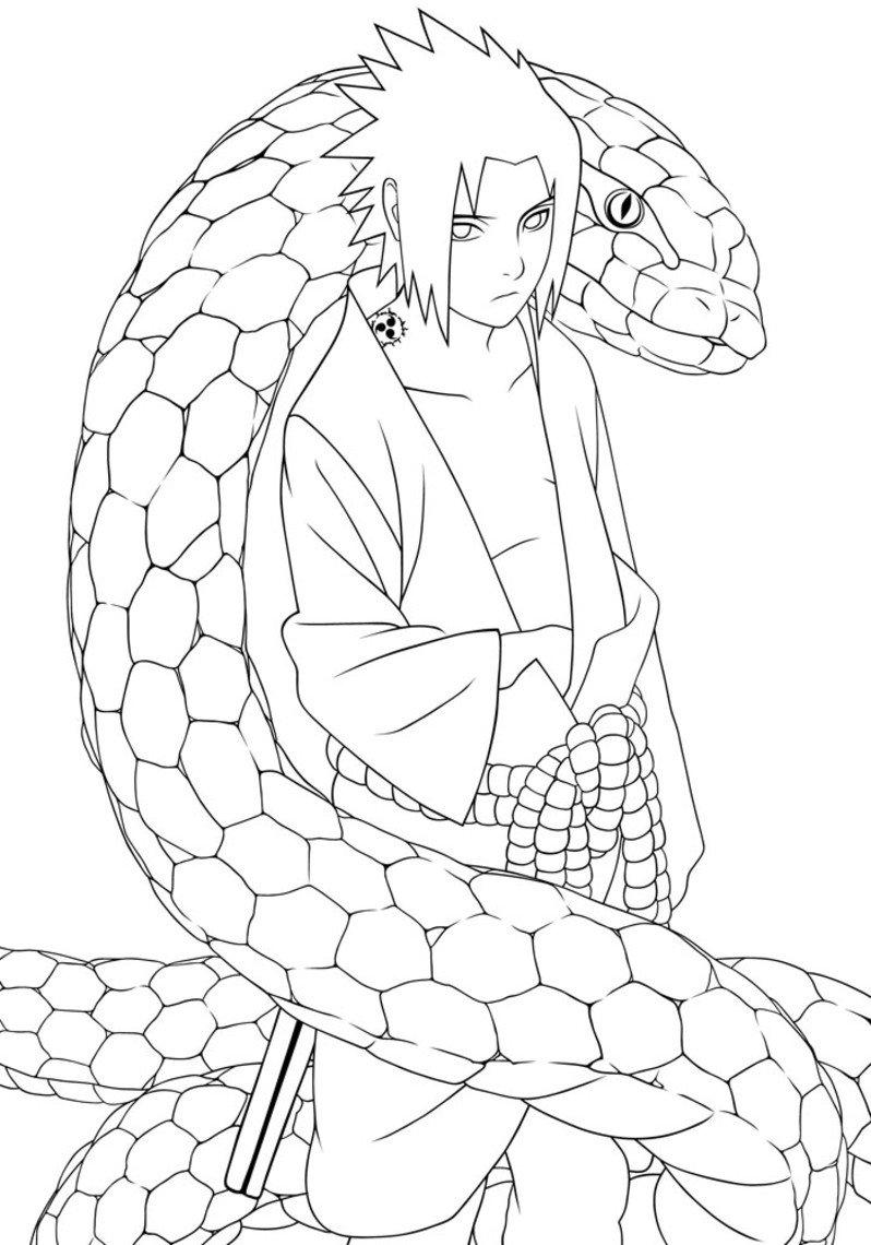 Desenhos Para Colorir   Pintar Do Naruto