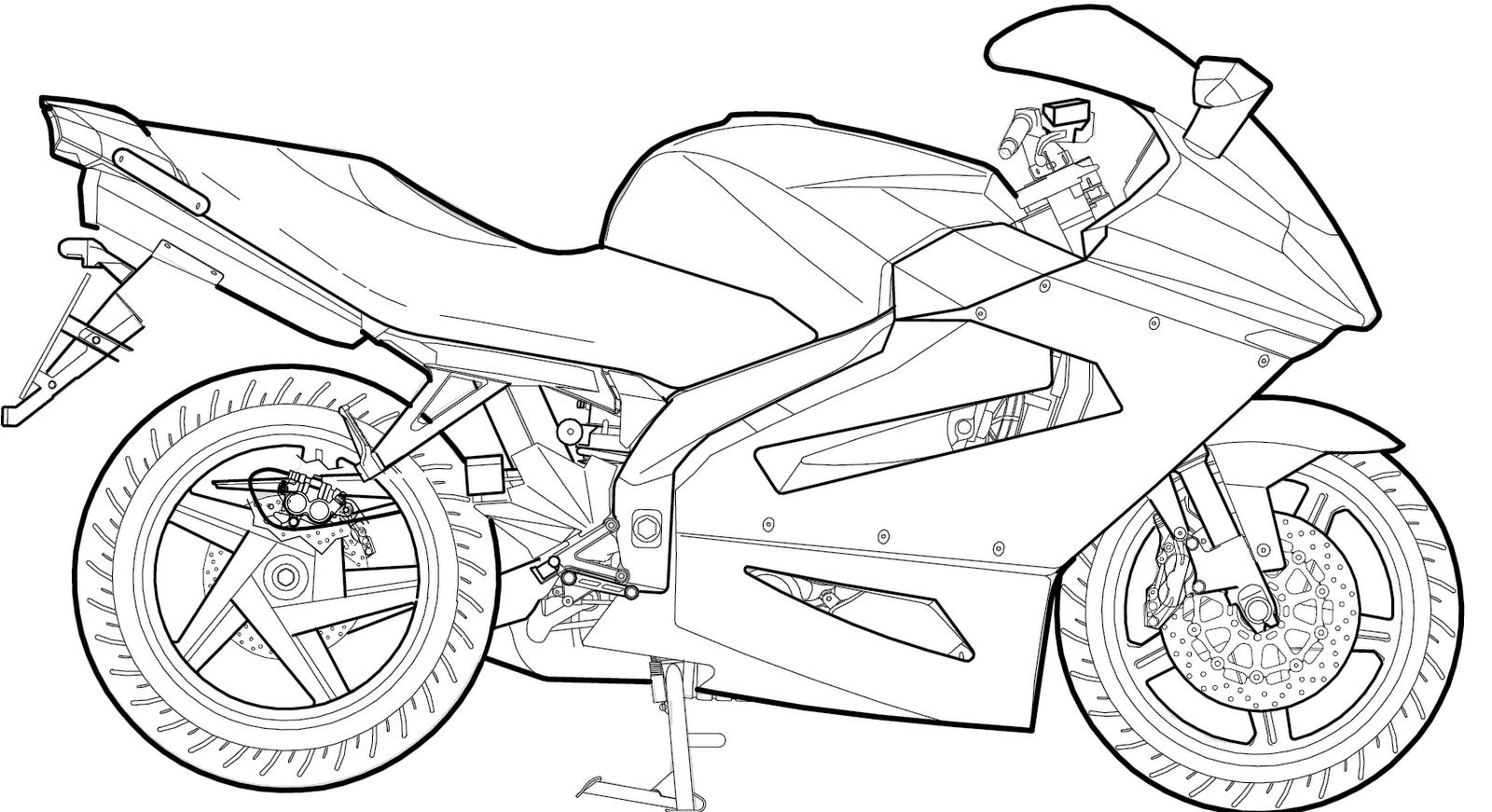 Desenhos Para Colorir, Desenhar E Pintar   Desenhos De Motos Para