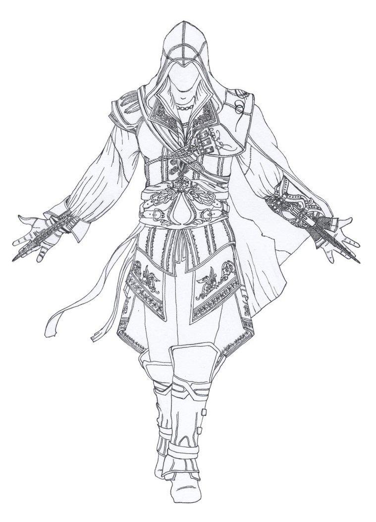 Desenhos Para Colorir Do Assassins Creed No Jogos Online Wx