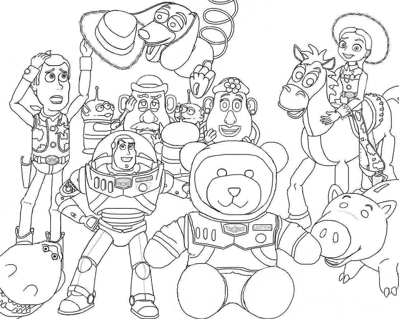 Desenhos Para Colorir Do Toy Story – Imagens Para Imprimir E
