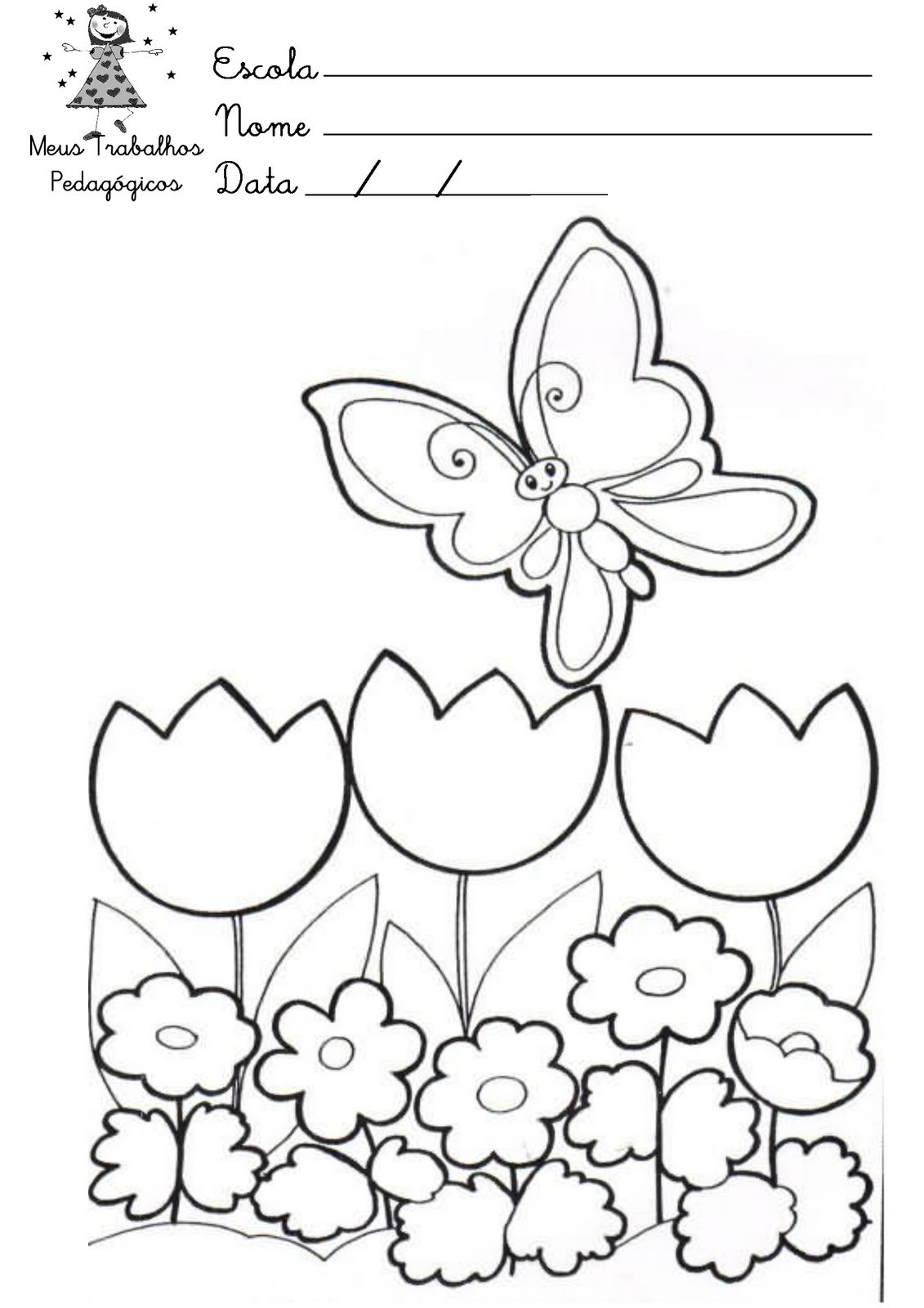 Desenhos Para Colorir Sobre A Primavera