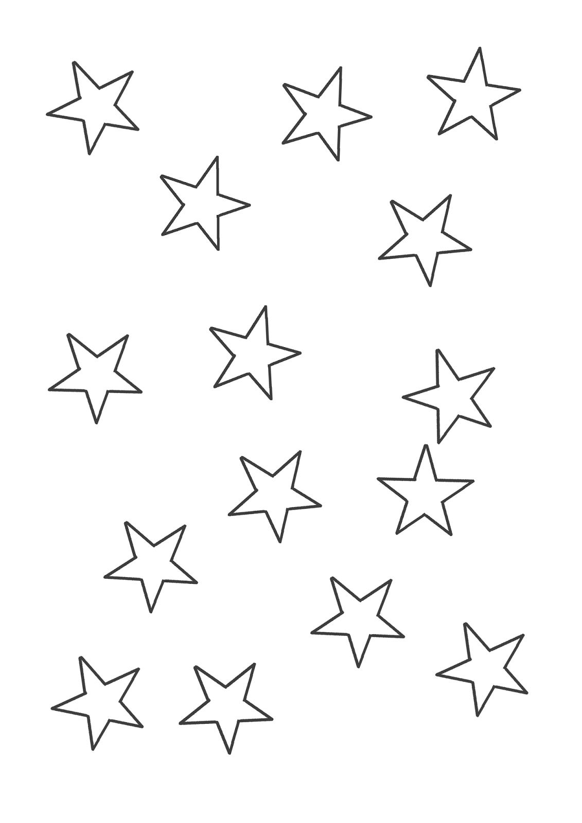 Desenhos Para Pintar  Desenhos De Estrelas Para Colorir