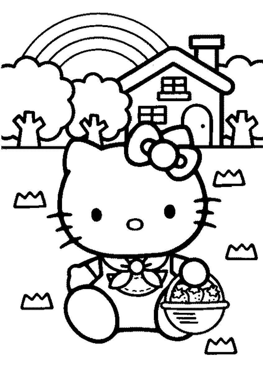 Desenhos Para Pintar Da Hello Kitty  Desenhos Para Colorir Da