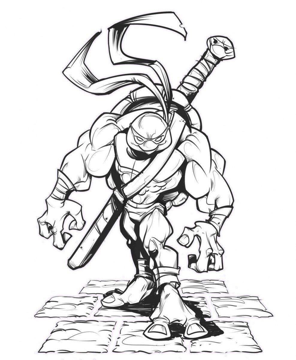 Desenhos Para Pintar Das Tartarugas Ninja  Desenhos Para Colorir