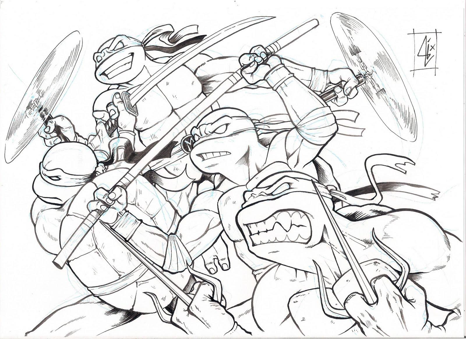 Desenhos Print Paint Tartarugas Ninjas Para Imprimir E Colorir 3d