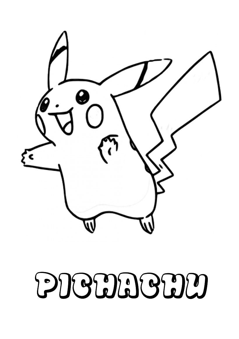 Dibujos Para Colorear Pokemon, Pichachu Para Imprimir