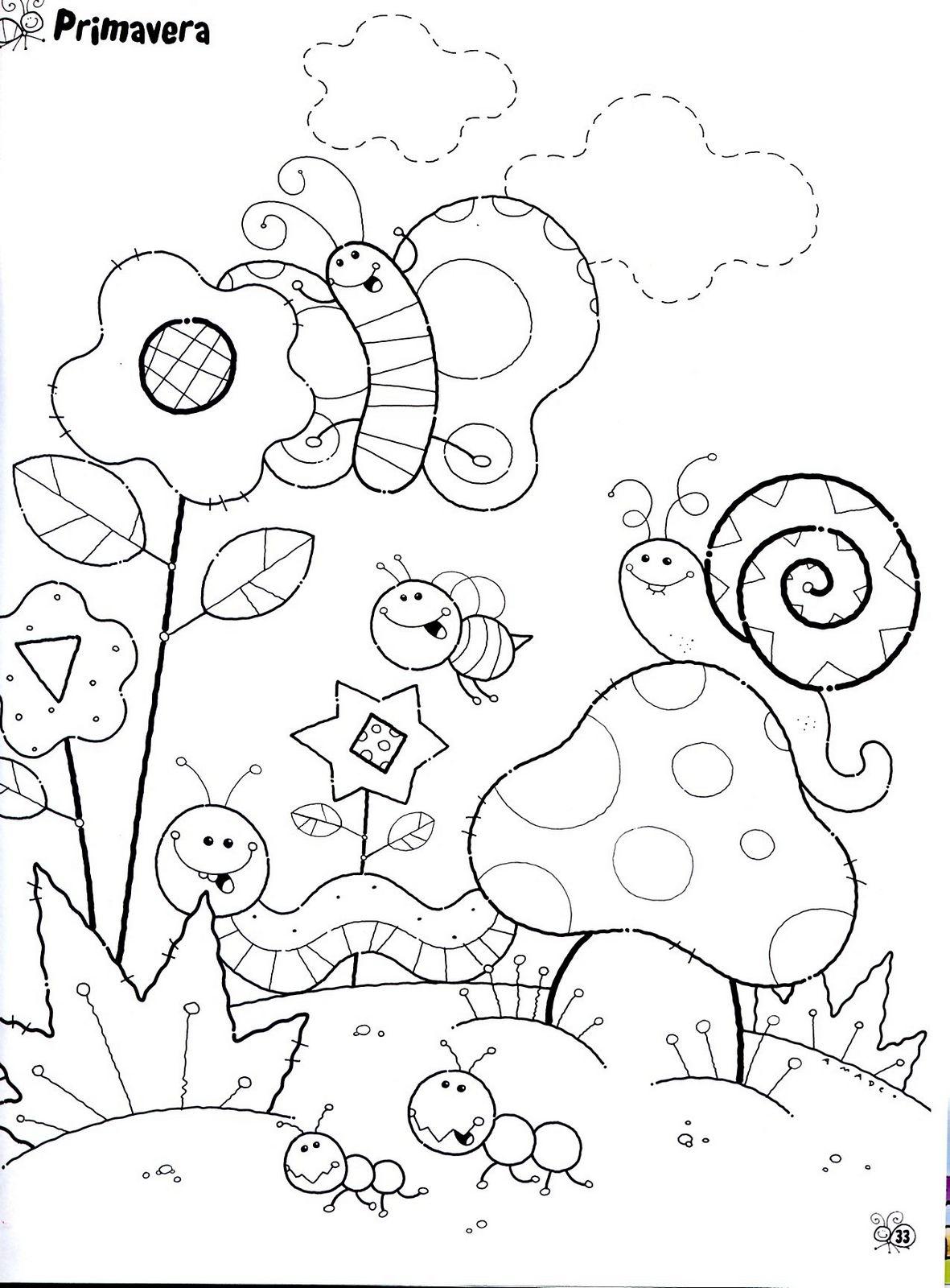 Diversos Desenhos De Caracol Para Imprimir E Colorir