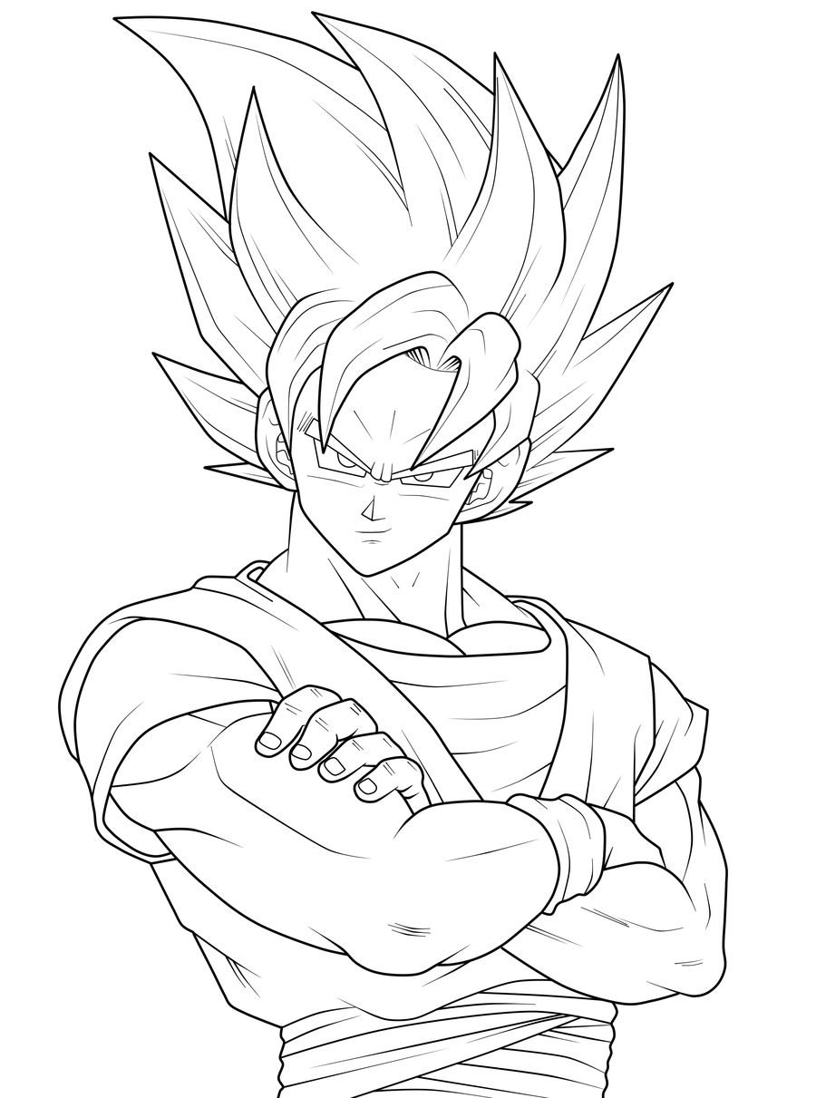 Dragon Ball Z Goku Coloring Pages Sketch Coloring Page