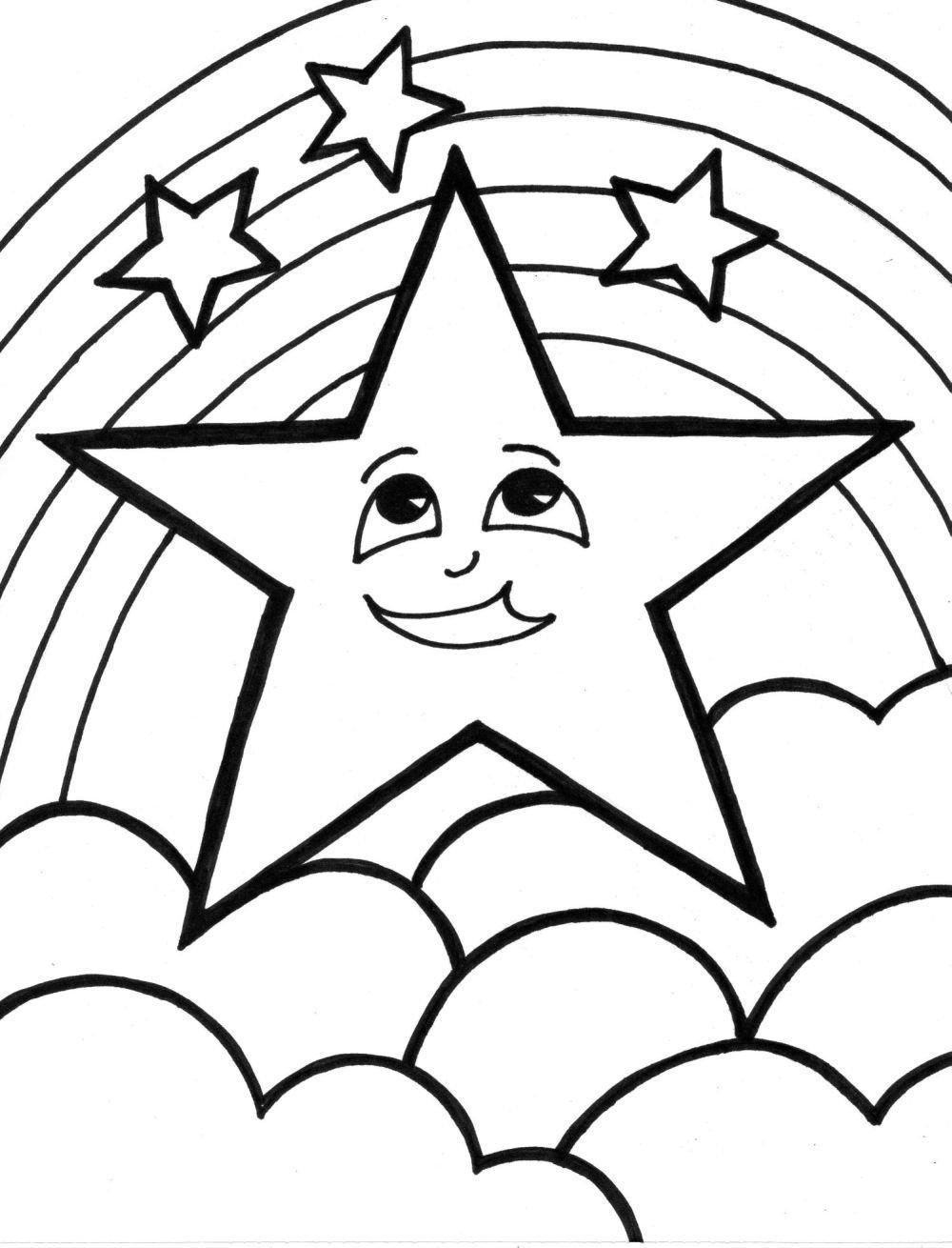 Estrela Dormindo – Desenhos Para Colorir
