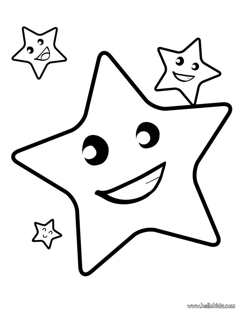 Estrela Para Colorir