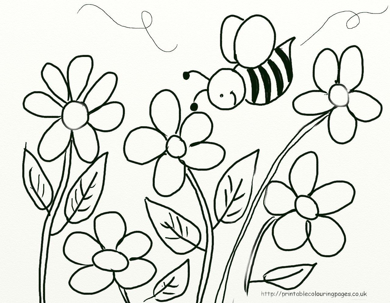 Flores Para Colorir 1