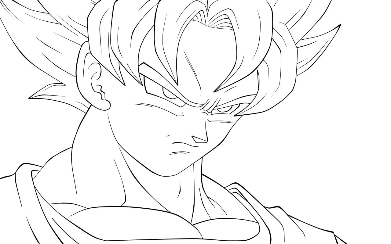 Goku Para Colorir No Jogos Online Wx